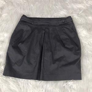 Club Monaco Jupe Misty Medium Gray Pleated Skirt